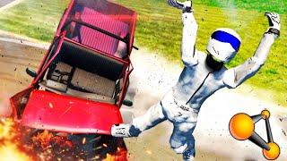 MUÑECO DE PRUEBAS !!! DEFORMACIONES DE COCHES !!! Crash Simulator BeamNG Drive Makiman