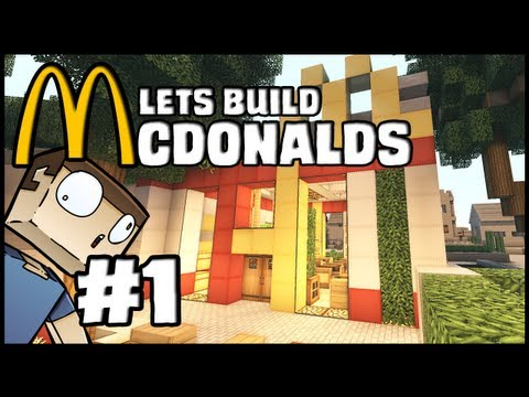 Minecraft Lets Build: McDonalds - Part 1