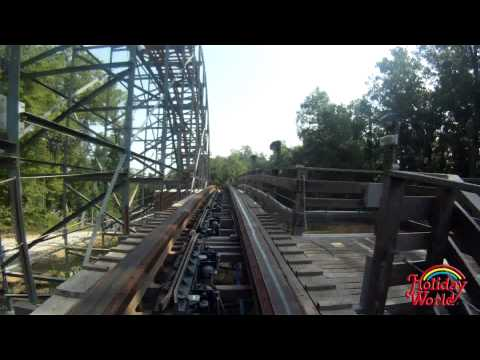 Holiday World's Voyage wooden roller coaster rear-facing POV in HD