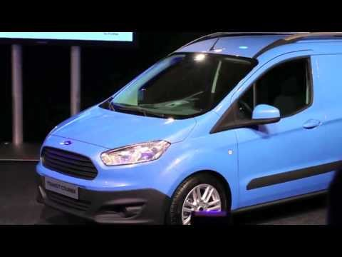 Transit Courier reveal at the Commercial Vehicle Show - Brimingham UK 2013