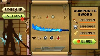 Shadow Fight 2 The Most Dangerous Ice Composite Sword - Let's Freeze the Opponent