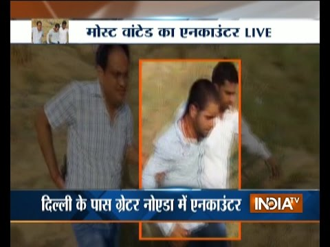 Watch Live Encounter Between Police and a Wanted Criminal at Greater Noida