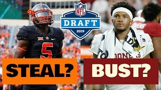 5 NFL Draft Prospects In 2019 that Could Be BUSTS.. and 5 that Could be MAJOR STEALS