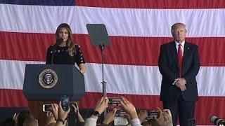 Melania Trump thanks US military members in Italy