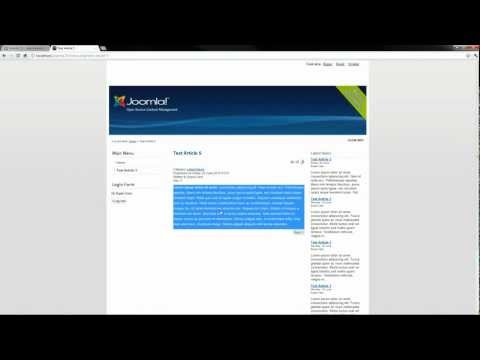 Joomla! 2.5 Tutorial: How To Create A New Menu Item