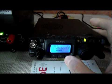 Yaesu ft-817 with Inrad filter on 300 Hz