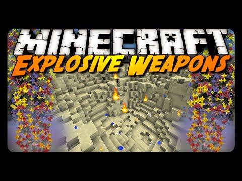 Minecraft: INSTANT EXPLOSIVE WEAPONS! (1.8 Vanilla Mod)