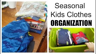 How to Organize Seasonal Kids Clothes