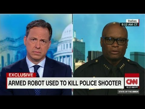 "Dallas Police Chief: bomb robot ""saved lives"""