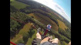 Crash landing in soybean field after bird strike. Sixchuter SR7XL 13 Sept 13 See description...