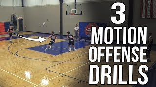 3 Motion Offense Drills - How To Coach Screening & Cutting