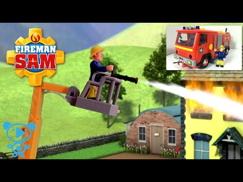 Fireman Sam Firetruck Jupiter with Fireman Sam Cartoon & Toys Review in 4k Video for Kids