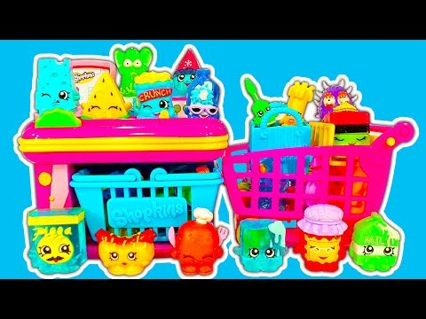 Shopkins Mini Mart, Bakery Stand Playsets & Crazy Shopping Trolly Dinosaur Attack
