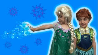 Anna's Birthday Party! Elsa and Anna Play With Special Lego Sets - Princesses In Real Life