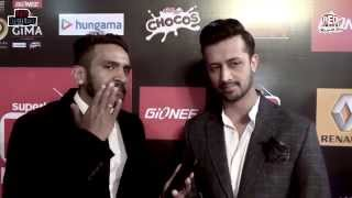 Atif Aslam at GiMA Awards 2015 with RJ J Man