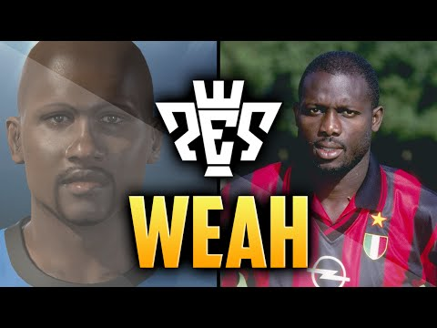PES 2015 | GEORGE WEAH FACE | CLASSIC PLAYER