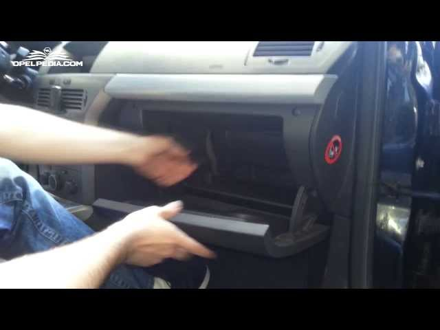 Opel Astra H Tutorial: Pollen Filter Replacement - YouTube