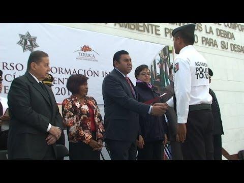 Fin de curso de policia preventivo generación 2014, Toluca