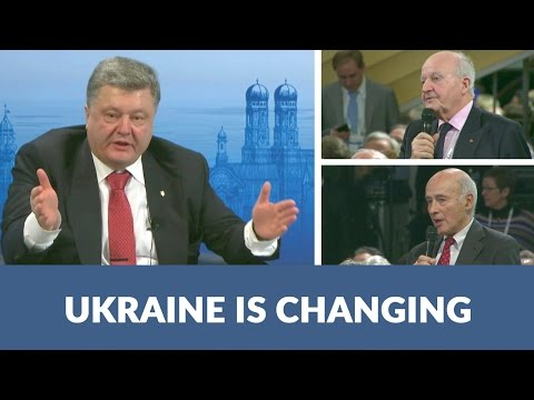 Poroshenko answers questions on economy, corruption in Ukraine