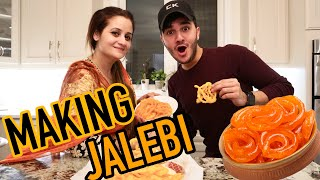 COOKING CHALLENGE WITH MAMA JAFRY (JALEBI)
