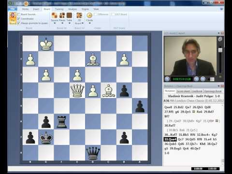 London Chess Classic 2012 Round 1 Highlights Carlsen McShane Kramnik Polgar Aronian Nakamura