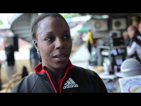 Veronica Campbell-Brown - interview after Ostrava Golden Spike 2012