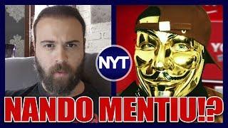 """Nando Moura é chamado de """"BIXA"""" LOUCA e de MENTIROSO após recuar em treta com o Felipe Neto"""