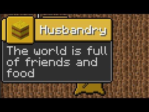 Minecraft 1.12 Snapshot 17w18b Husbandry Advancement Tab