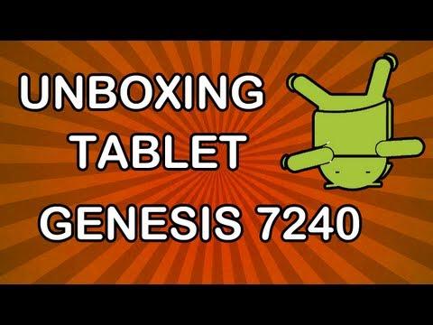 Unboxing  Tablet Genesis tab GT-7240