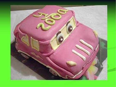 Машинки из мастики для детского торта своими руками