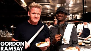 Gordon Ramsay Teaches Lil Nas X How To Make A Panini