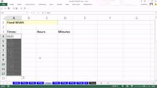 Highline Excel 2013 Class Video 38: Excel Text To Columns To Split or Convert Data 7 Examples