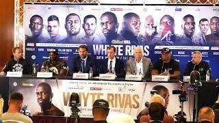 Dillian Whyte vs Oscar Rivas FULL FINAL PRESS CONFERENCE | Matchroom Boxing