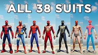 ALL 38 Spider-Man SUITS & COSTUMES - Marvel's Spider-Man PS4