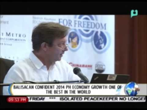 NewsLife: Balisacan confident 2014 PH economy growth one of the best in the world