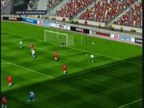 Ashley Young Makes It 1-0 - England Vs Wales Highlights - Tuesday 6th September Game: FIFA 11.