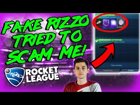 FAKE RIZZO TRIES TO SCAM ME ON ROCKET LEAGUE | FAMOUS ROCKET LEAGUE YOUTUBER IMPERSONATOR SCAM