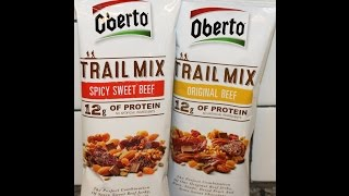 Oberto Trail Mix: Spicy Sweet Beef and Original Beef Review