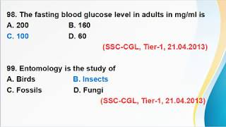 Previous Year Biology Questions-Series of 1300 MCQs (SSC-CGL, CHSL, FCI, SI, Delhi Police