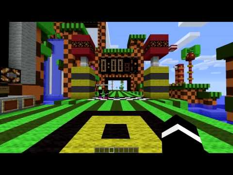 Minecraft Sonic Race vs Bajan Canadian JeromeASF and Pete