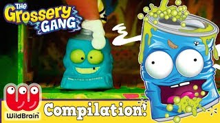 Grossery Gang Slime So Cool Fridge Fights vs Shopkins | GROSSERY GANG COMPILATION 🌈 RaInBoW PoP 7