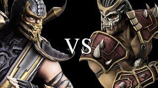 Mortal Kombat 9  Scorpion vs Shao Kahn