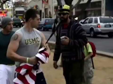 U.S Marine save the US Flag
