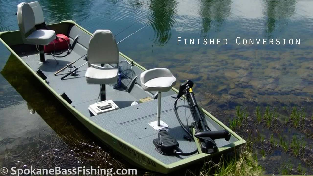 HD) Jon Boat to Bass Boat Conversion ( Modification Project