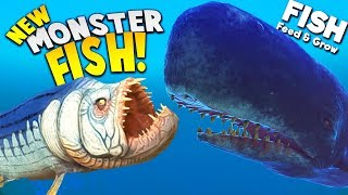 *NEW* GIANT MONSTER FISH vs GIANT WHALE! | Feed and Grow Fish Gameplay