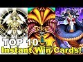 TOP 10: Instant Win Yugioh Cards!