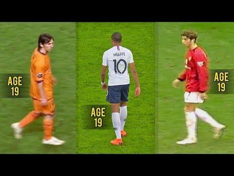 ◆動画◆19歳エムバペとメッシ、クリロナの19歳の頃のプレーを比較した結果