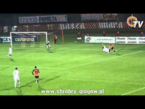 14.09.2013 Bramki Z Meczu Chrobry Głogów - Błękitni Stargard Szczeciński 2-0