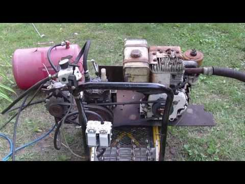 Homemade Air compressor. Generator. Arc welder