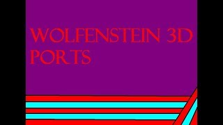 Wolfenstein 3D and Doom Ports (Low Budget) (Nazi references!)